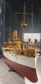 uss maine builder's model at the hampton roads naval museum photo,