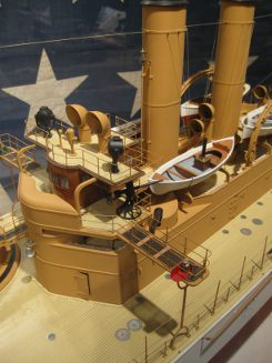 uss maine bridge detail, model at hampton roads naval museum, photo