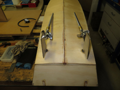 Fabricated PT Boat rudders and prop shafts made of Stainless Steel