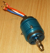 brushless electric motor with cooling jacket