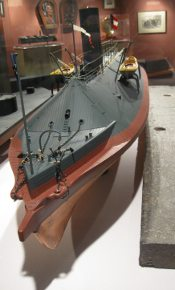 css virginia model hampton roads naval museum photograph