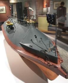 stem view of css virginis model at hampton roads naval museum photo