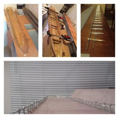 Cured hull, deck fitting and railings