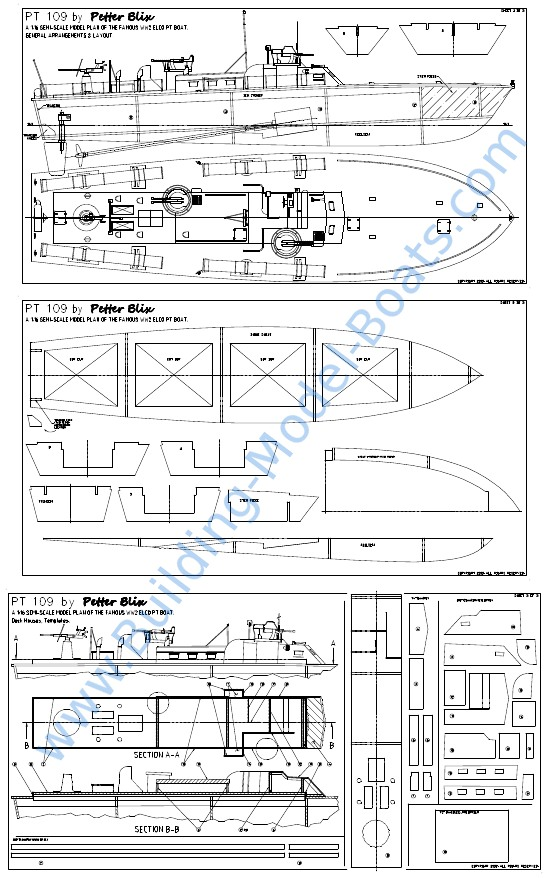 RC PT Boat Plans http://www.building model boats.com/model boats blog ...