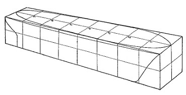 wooden block with stations marked