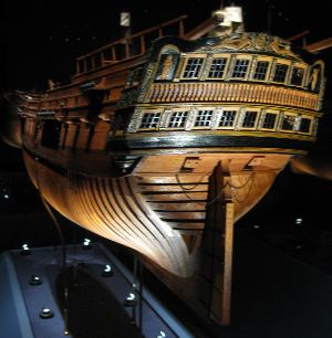 Plank on frame at it's best. Ship model by August F. and Winnifred Crabtree - on permanent display at the Mariners' Museum.