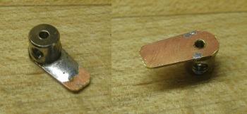 model boat rudder arm soldered