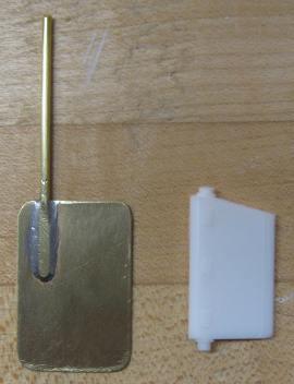 rudder comparison old plastic vs. new brass