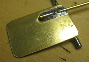 rudder stock and blade soldered together
