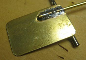 rudder stock and blade soldered together