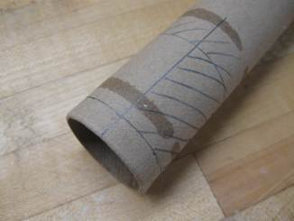 marking the paper tube