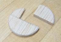 lower balsa disc cut to shape
