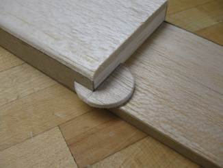 lower balsa disc attached