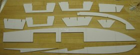 balsa pieces for the pt 109 hull