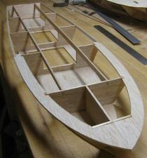 transom, deck and shear stringer detail