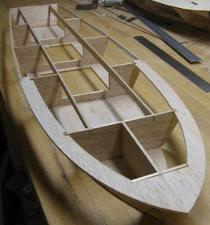 transom, deck and shear stringer detail