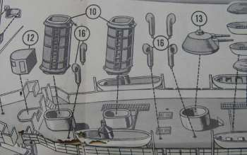pyro uss maine model instructions - funnel details