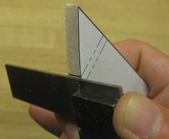 a small square is used for marking parts relative position