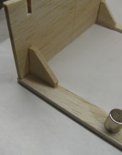 transom, knees and chine shelf glued together