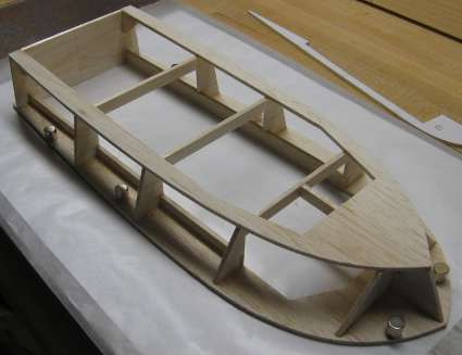 rc boat hull upside down