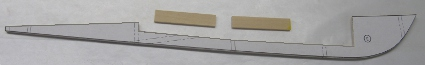 keel and parts for making a propeller shaft tunnel in balsa rc boat hull