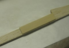 doubler attached to back of keel
