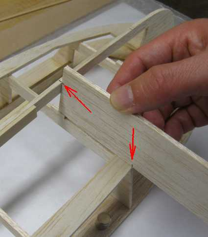 marking the edge transitions onto the balsa sheet