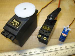 quarter-scale, standard and mini rc servos