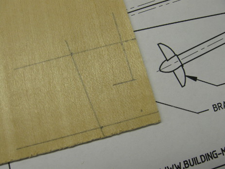 RC Cabin Cruiser rudder shape transferred to basswood