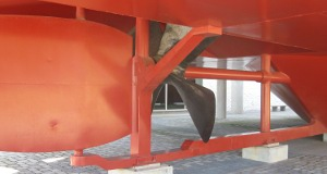 picture of uss monitor replica propeller