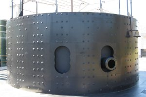 picture of uss monitor turret at mariners museum
