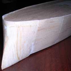 ditto stern detail: balsa block fill