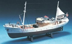 Lindberg North Sea Fishing Trawler plastic kit. Picture courtesy of J. Lloyd International.
