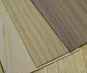 picture of domestic hardwoods - maple, cherry and walnut