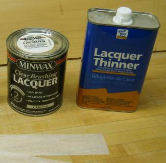 nitrocellulose lacquer (dope) and thinner commercial examples photo