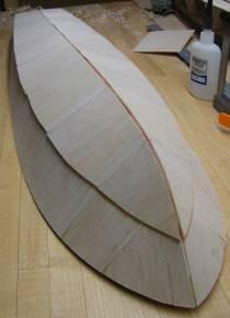 bottom panels planked not sanded yet