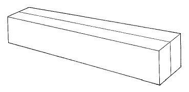 model boat hull block with centerline