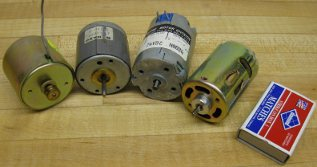 small to medium size permanent magnet motors for model boats