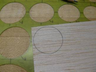 marking circle on balsa sheet