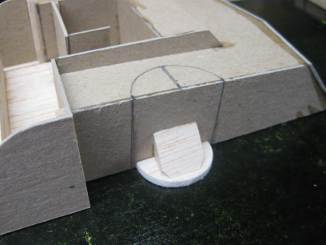 half-disc glued in place