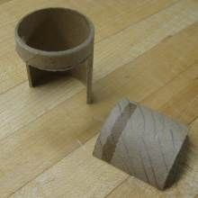 cut paper tube