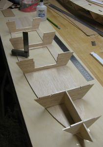 attaching bulkheads to chine rib