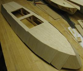 pt boat upper panels planked