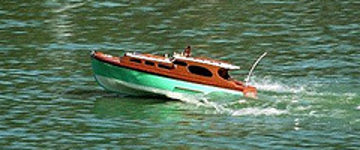 a radio controlled cabin cruiser