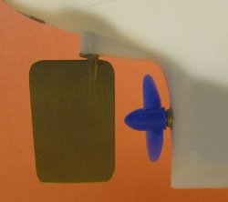 home made rc boat rudder