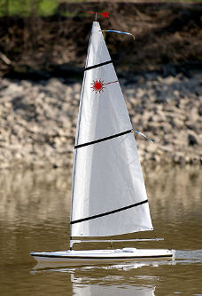laser rc sailboat