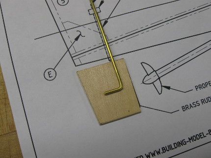 RC Boat Rudder shape cut out