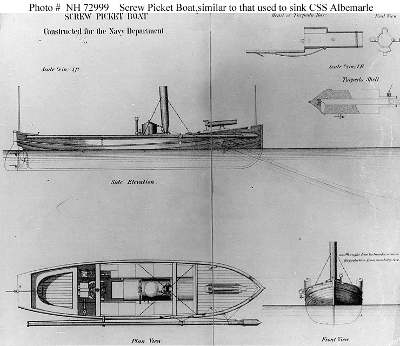 drawing of union picket boat no.1
