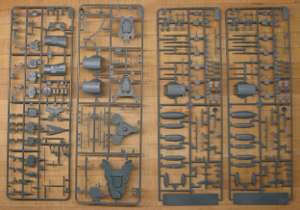 typical sprue of the hobby boss 1/350 uss arizona