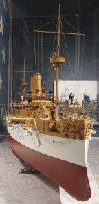 uss maine builder's model at the hampton roads naval museum photo,